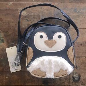 Cat & Jack Penguin navy blue girls shoulder bag